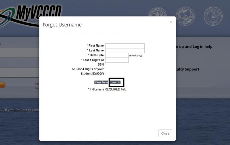 Forgot username form
